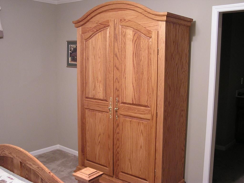 Oak Armoire Build In 2002. The Carcass Of This Is Build From Oak Plywood  With The Doors And Trim Made From Solid Oak. The Doors Are Raised Panels  And Were ...